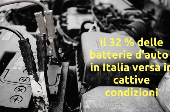 Il 32% delle batterie d'auto  in Italia versa in cattive condizioni