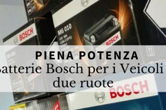 Piena potenza con le batterie Bosch, per i veicoli a due ruote